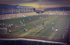 Everton Goodison Park 1966-  20'' x 30'' approx poster print